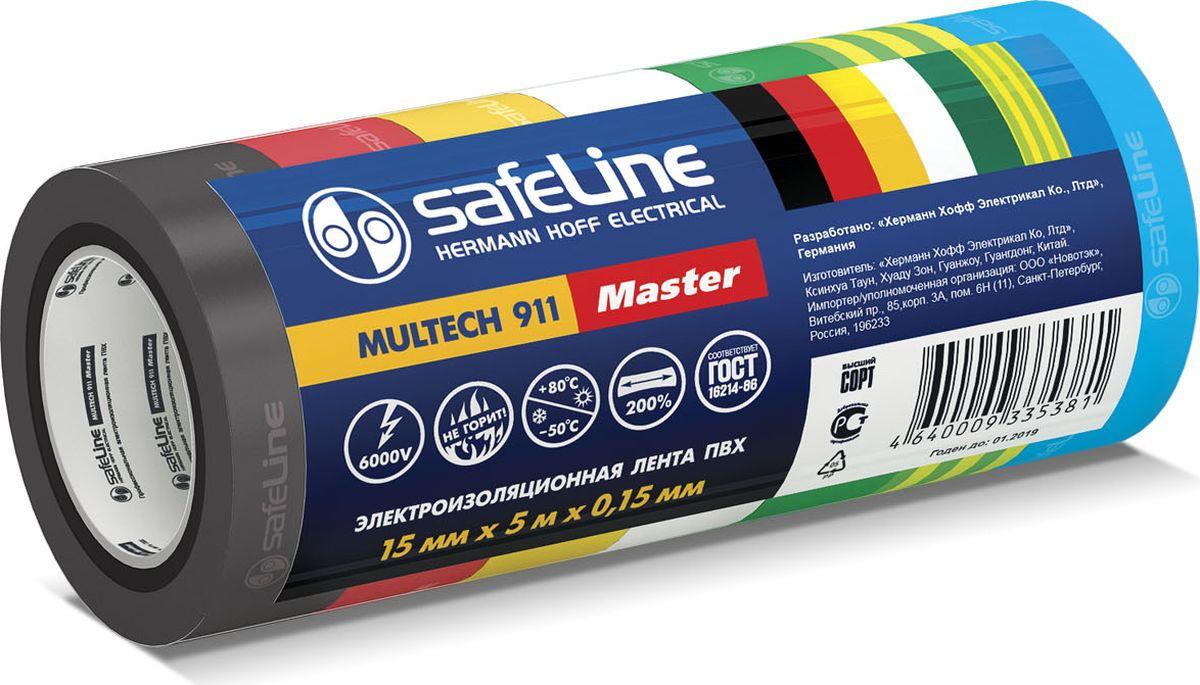 Лента изоляционная Safeline Master, ширина 1,5 см, длина 5 м, 7 шт лента изоляционная alca 5 м 6 шт