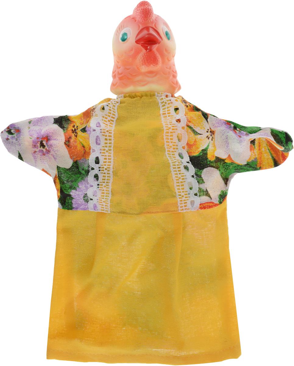 цена на Sima-land Мягкая игрушка на руку Курица цвет желтый 722654