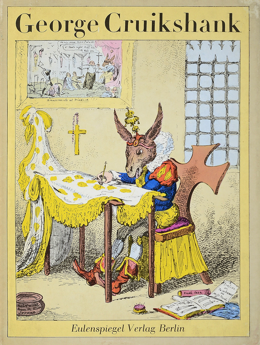 George Cruikshank поуп м рисуем карикатуры