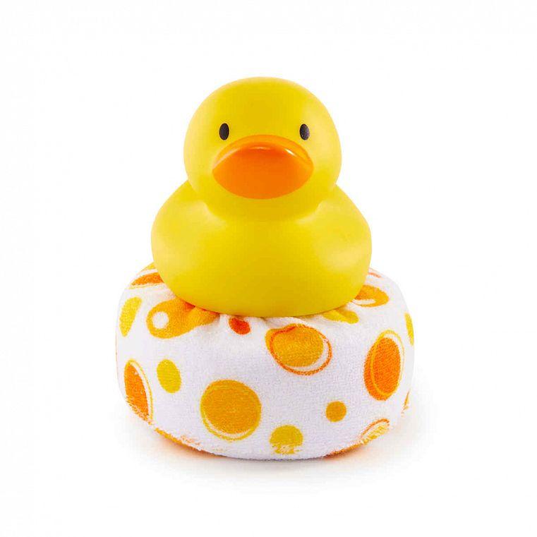 Munchkin Мочалка-игрушка для ванны Уточка