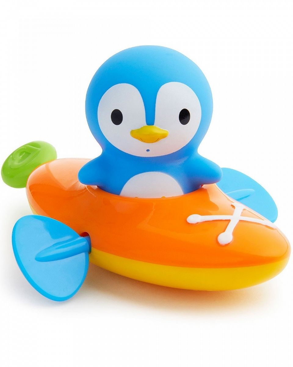Munchkin Игрушка для ванны Пингвин и пловец в лодке от 18 месяцев
