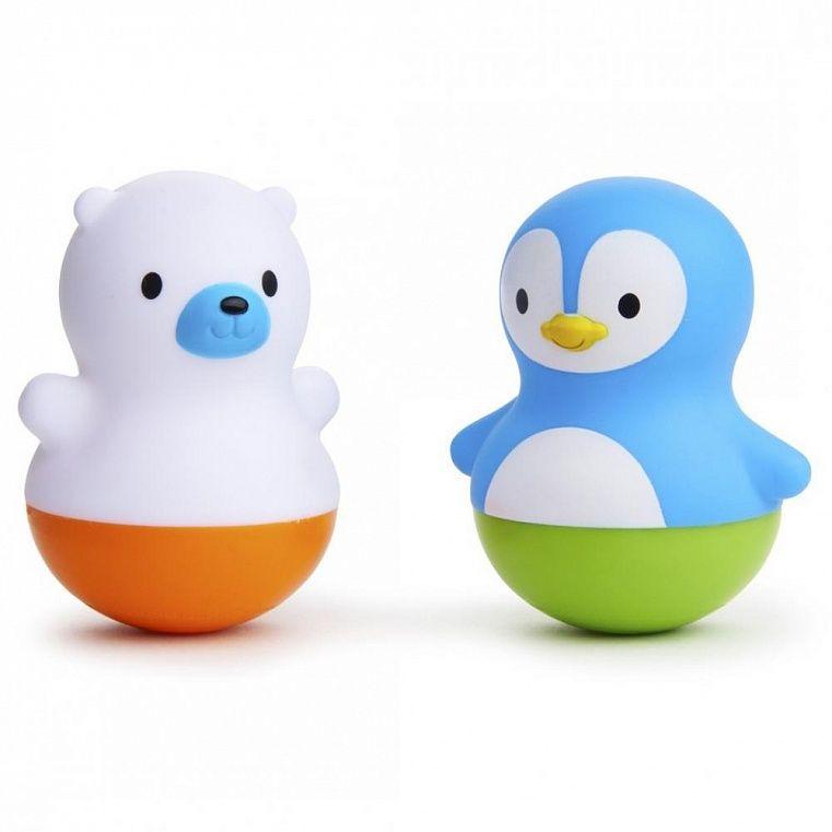 Munchkin Игрушки для ванны поплавки Медведь и Пингвин