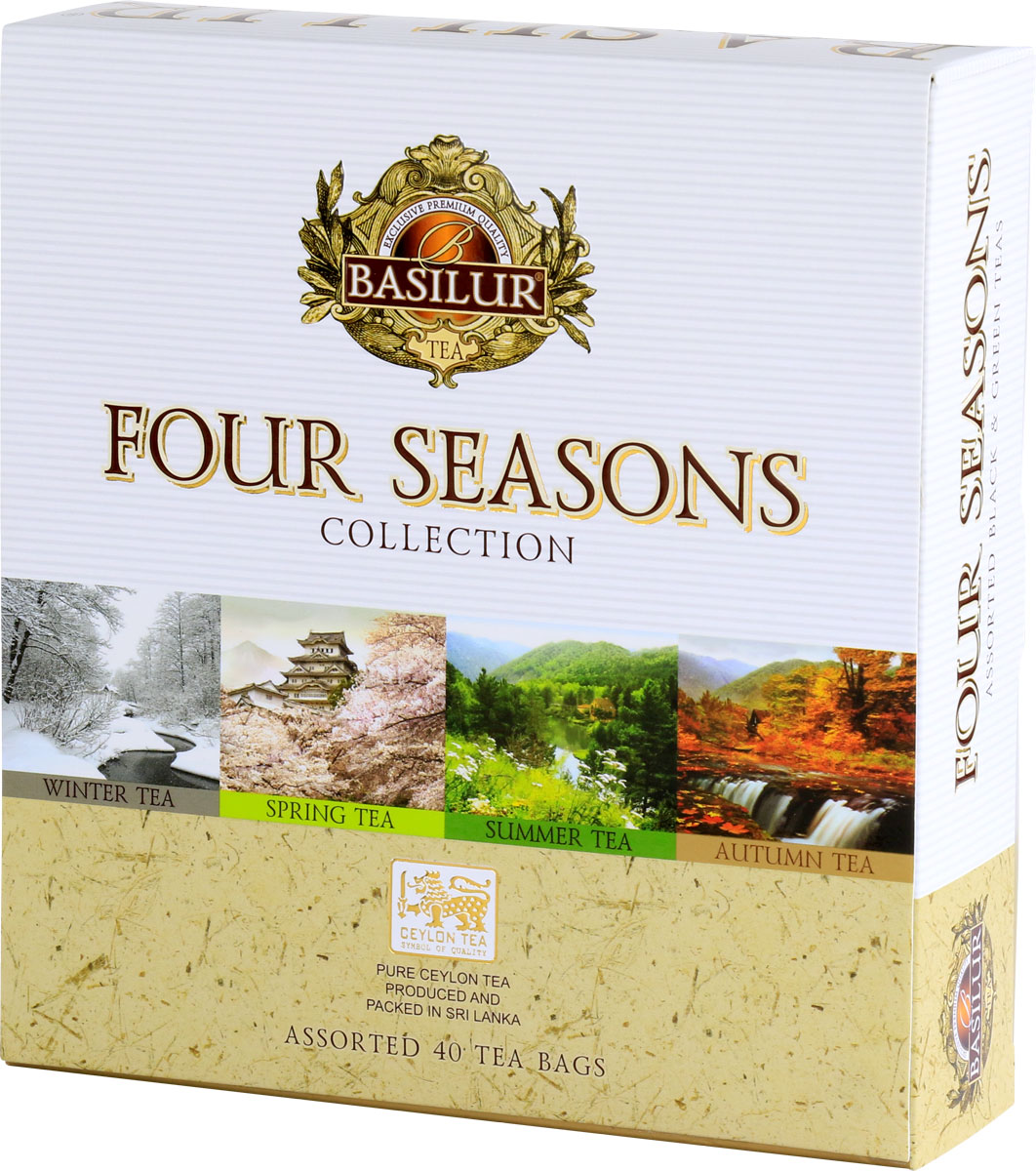 Basilur Assorted Four Seasons черный и зеленый чай в пакетиках, 40 шт цена в Москве и Питере