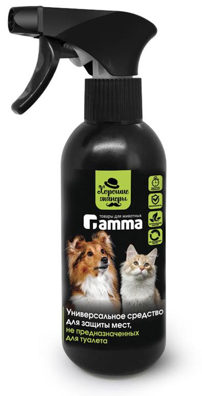 ошейники gamma биокапли для кошек Средство для защиты мест, не предназначенных для туалета Gamma Хорошие манеры, универсальное, спрей, 250 мл