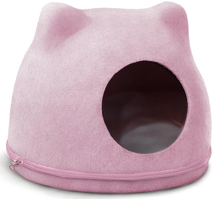 """Домик для кошек Triol """"Кошкин дом"""", цвет: розовый, 34 x 43 x 34 см"""