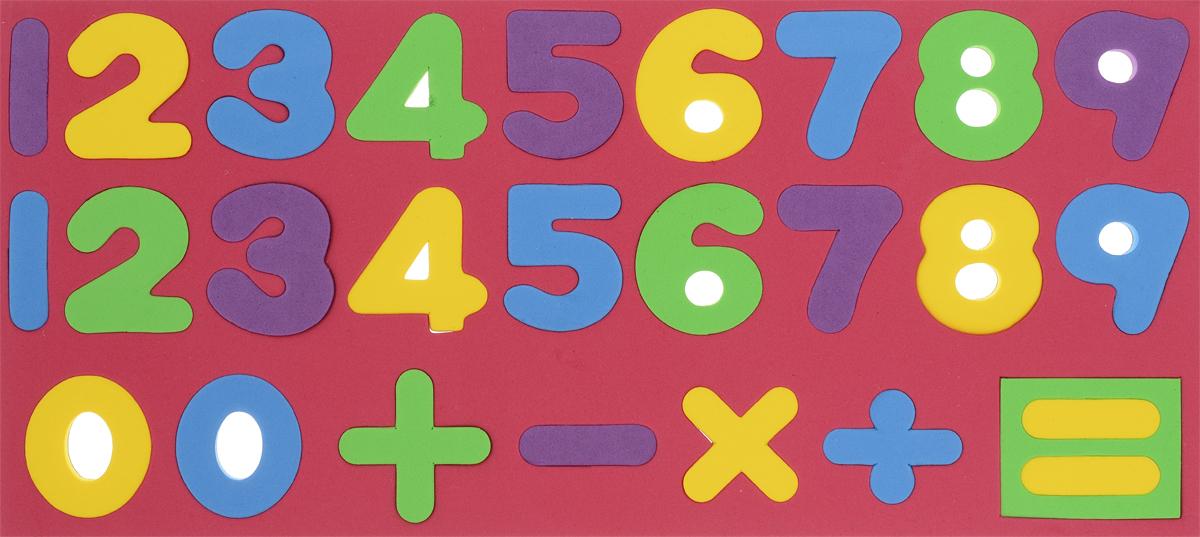 Kribly Boo Обучающая игра Набор магнитных цифр и знаков цвет красный
