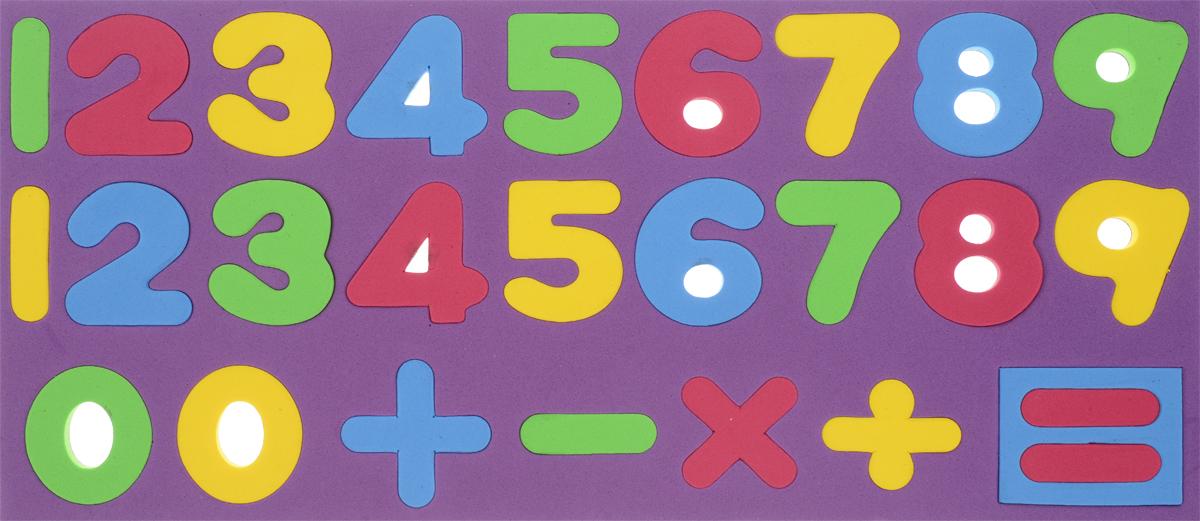 Kribly Boo Обучающая игра Набор магнитных цифр и знаков цвет фиолетовый