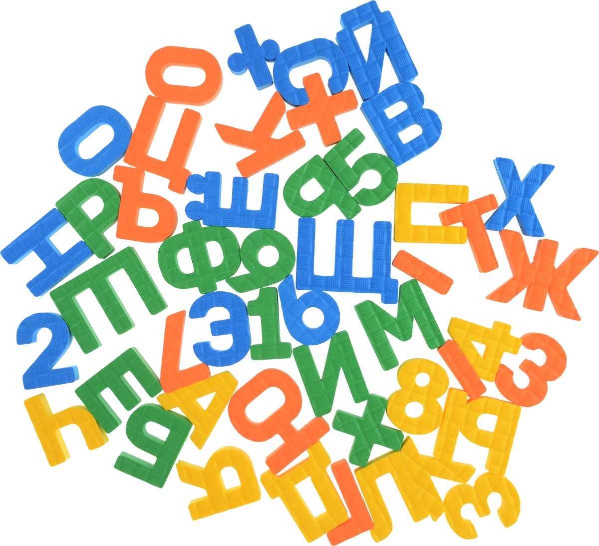 Pic'nMix Набор игрушек для ванной Буквы-цифры цвет желтый оранжевый зеленый буквы и цифры мастер игрушек магнитные цифры цифры ig0080