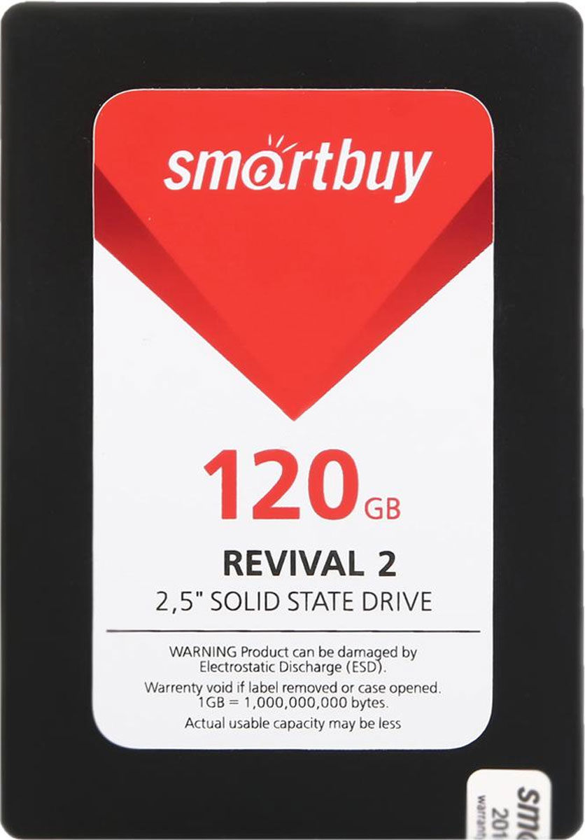 SSD диск Smartbuy Revival 2 120GB (SB120GB-RVVL2-25SAT3) внутренний ssd накопитель 80gb smartbuy splash 2 sb080gb splh2 25sat3 sata3 2 5