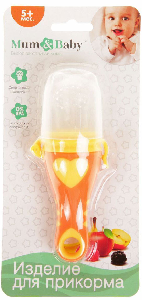 Mum&Baby Ниблер с силиконовой сеточкой 2272518 happy baby ниблер с нейлоновой сеточкой цвет лайм