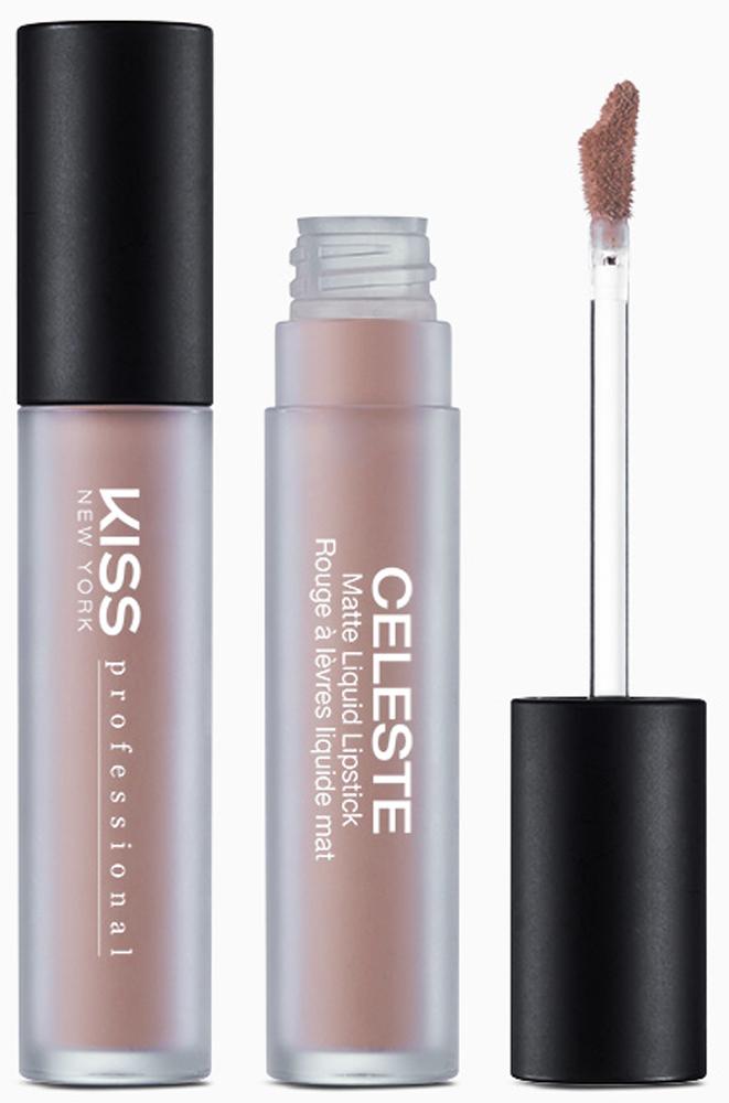 Kiss New York Professional Ультраматовая жидкая помада Celeste, Nude Cameo, 4,5 г