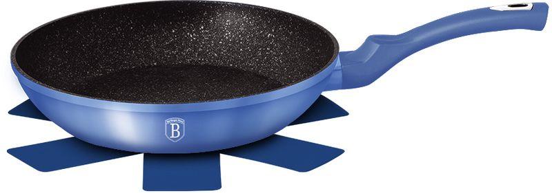 Сковорода Berlinger Haus Metallic Line, с антипригарным покрытием, цвет: голубой. Диаметр 24 см подставка д чашек berlinger haus carbon metallic passion collection 33см нерж сталь карбон