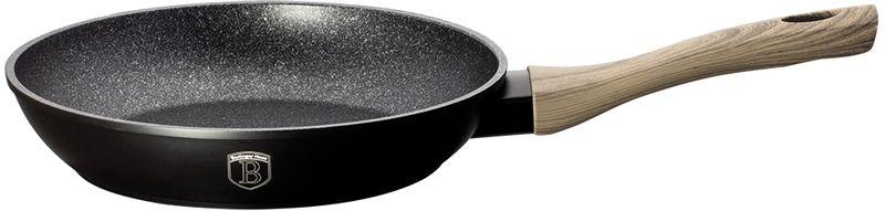 Сковорода Berlinger Haus Forest Line, с мраморным покрытием, цвет: черный. Диаметр 24 см. 1702-ВН сковорода с крышкой berlinger haus forest светлое дерево