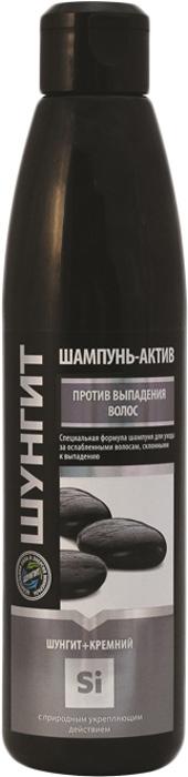 Шампунь- Актив Природная аптека Шунгит против выпадения волос Шунгит+Кремний, 330 мл