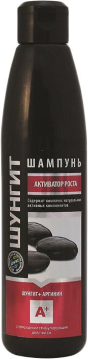 Шампунь- Активатор Природная аптека Шунгит роста волос Шунгит+Аргинин, 330 мл
