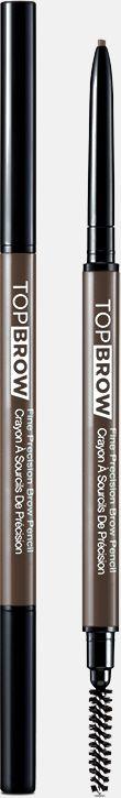 Kiss New York Professional Контурный карандаш для бровей со щеточкой Top brow Fine precision, Пепельный блонд