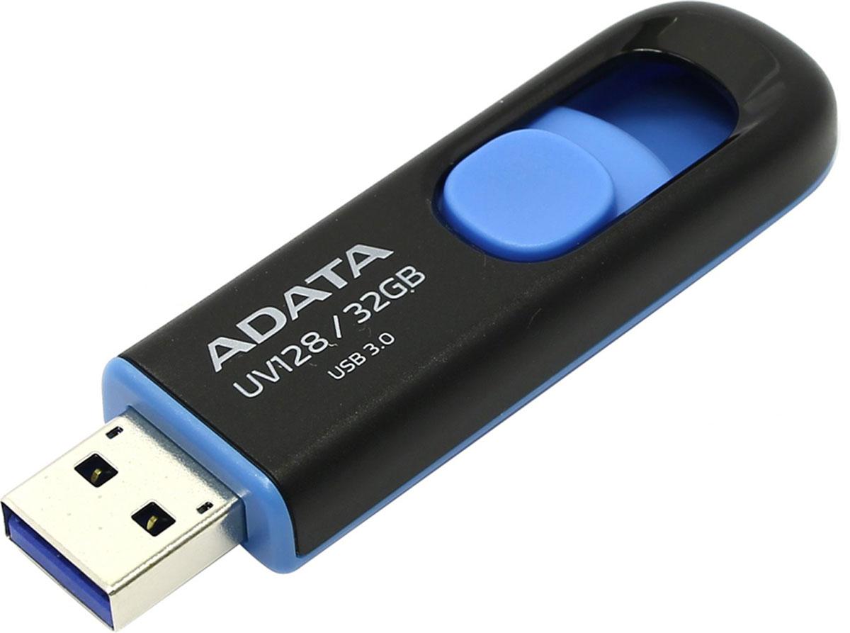 ADATA UV128 32GB, Black Blue USB флеш-накопитель