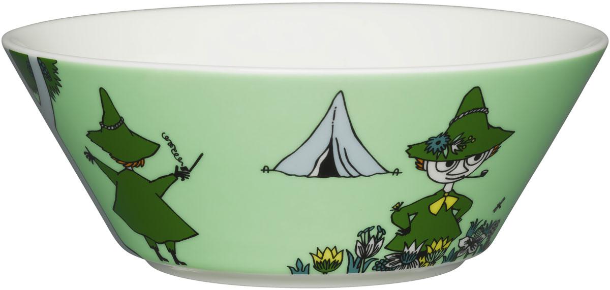 "Пиала Arabia Finland ""Снусмумрик"", цвет: зеленый, 400 мл"