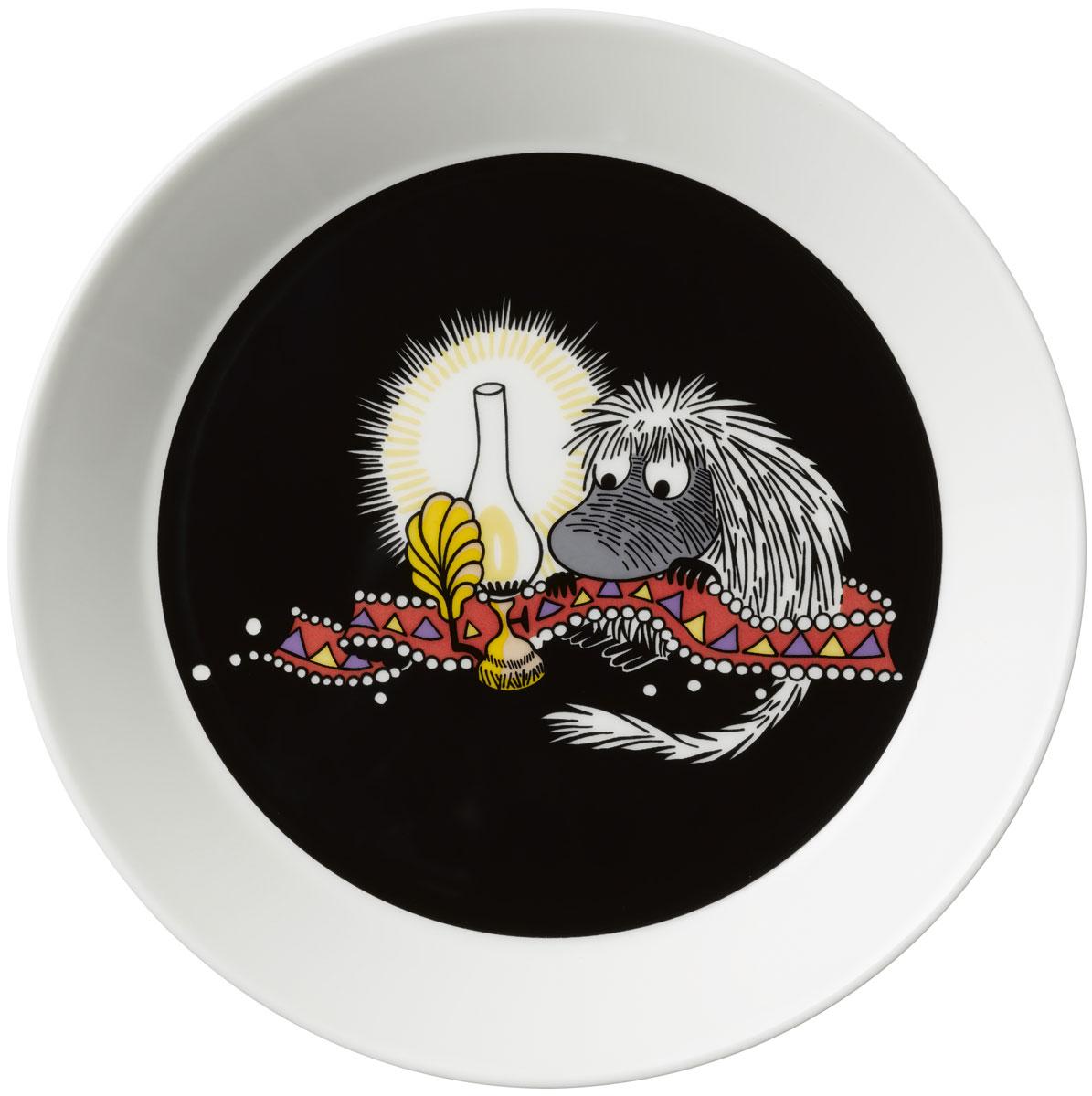 """Тарелка Arabia Finland """"Предок"""", цвет: черный, диаметр 19 см"""