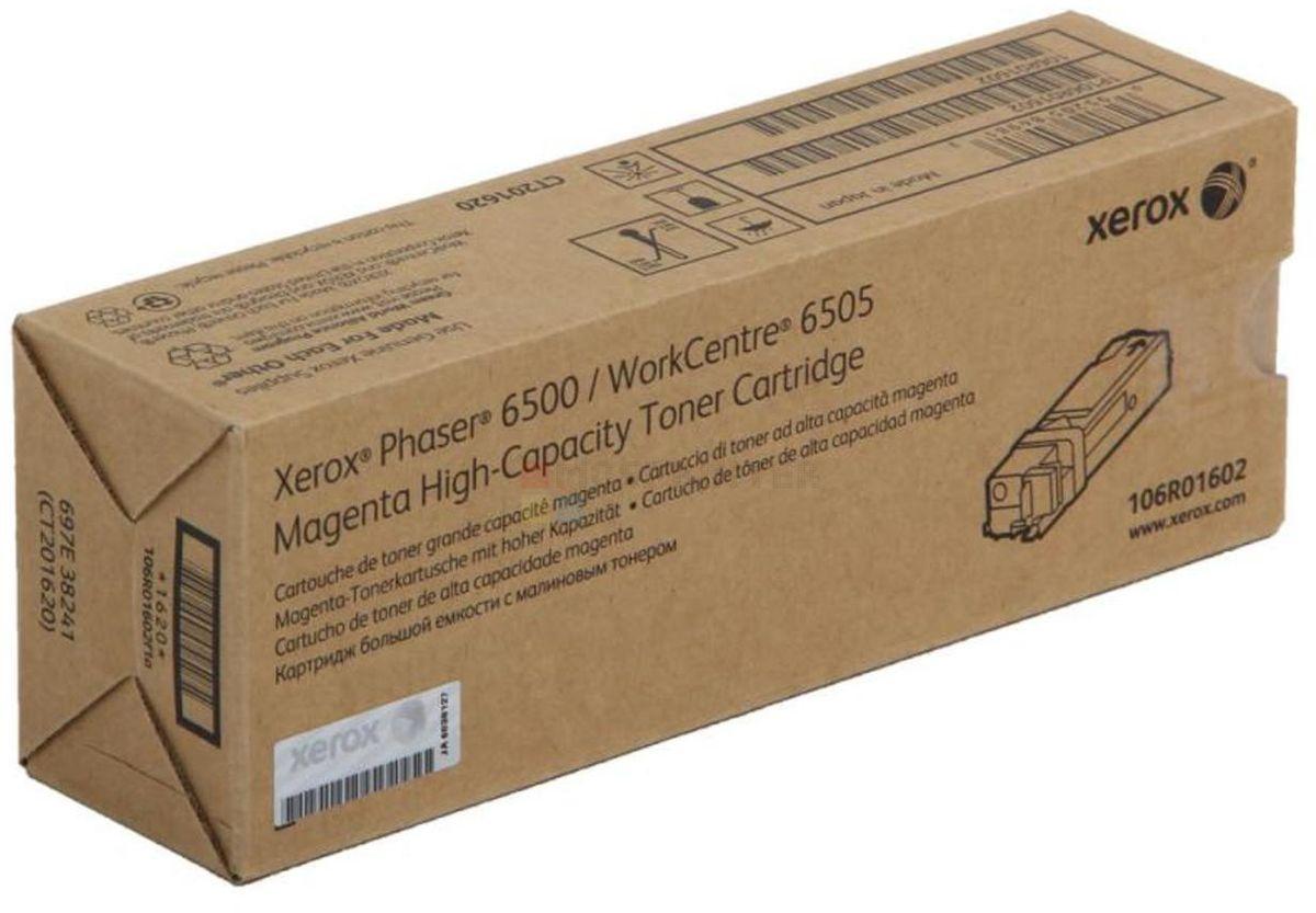 Картридж Xerox 106R01602, красный, для лазерного принтера, оригинал