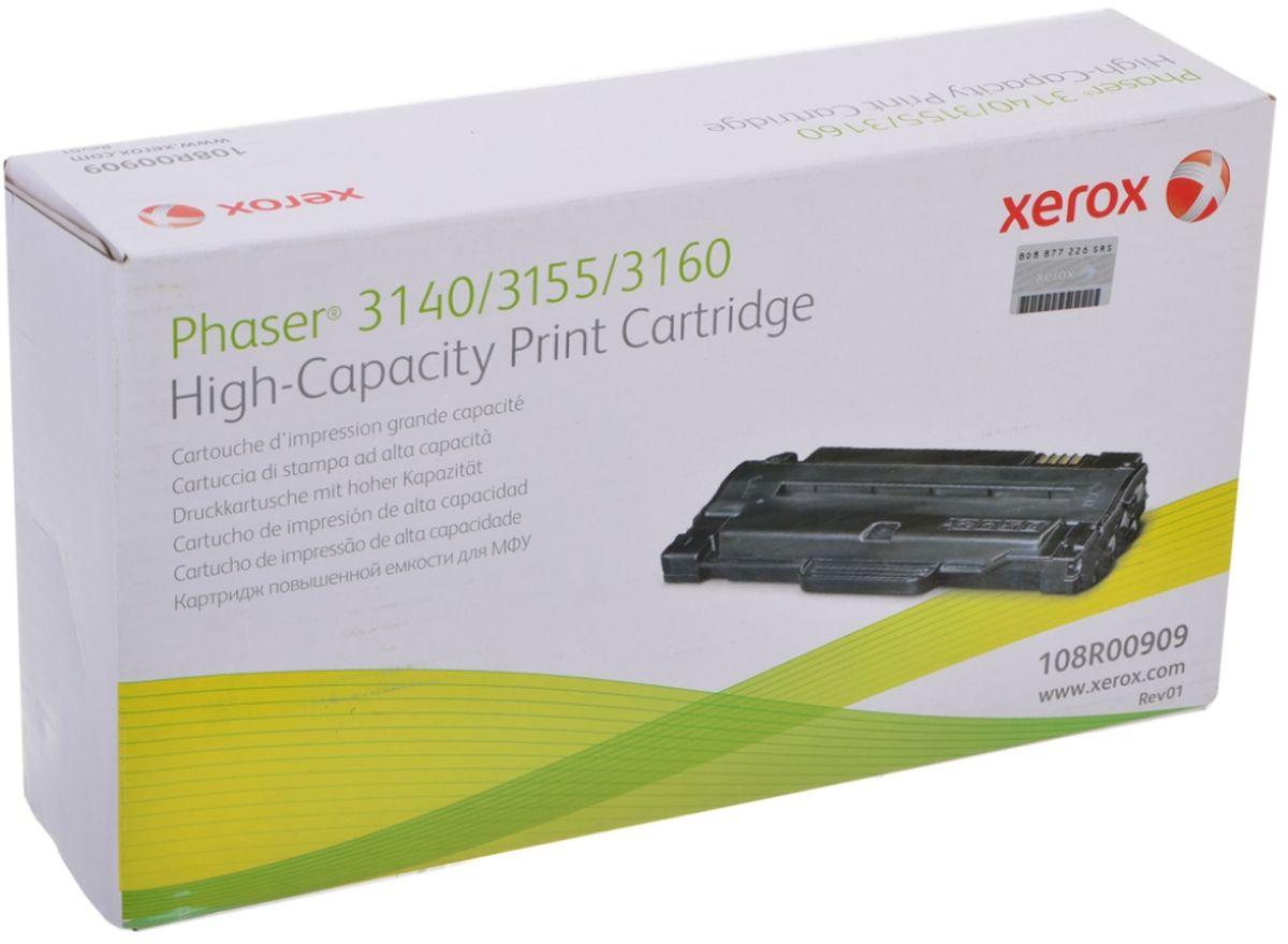 Картридж Xerox 108R00909, черный, для лазерного принтера, оригинал