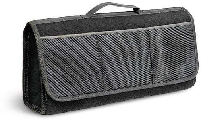 Сумка-органайзер в багажник Autoprofi Travel, ковролиновая, цвет: черный. ORG-20 BK органайзер в багажник travel org 35 bk 70х32х30см брезент прозрачный клапан чёрный
