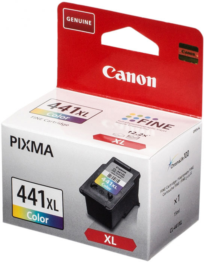 Картридж Canon CL-441XLCMY, голубой, пурпурный, желтый, для струйного принтера, оригинал цены