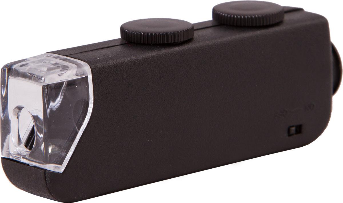 Bresser 60x-100x микроскоп карманный со светодиодной подсветкой