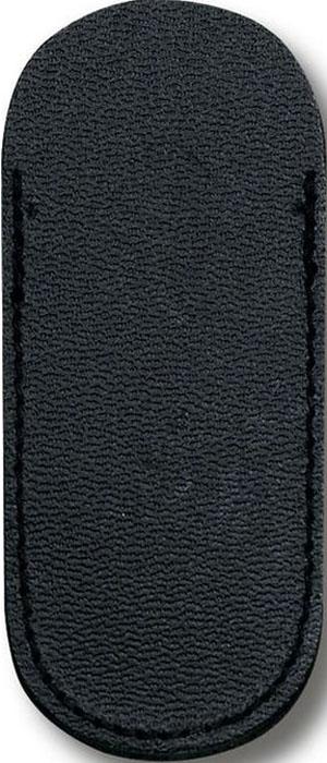 Чехол Victorinox для ножей 74 мм толщиной 1-2 уровня, кожаный, цвет: черный