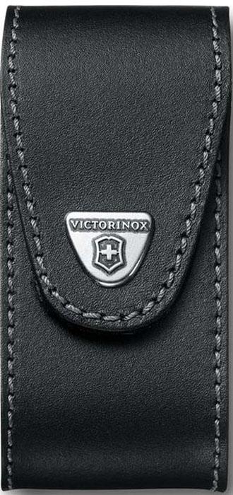 Чехол на ремень Victorinox для ножа 111 мм WorkChamp XL (0.9064.XL), кожаный, цвет: черный