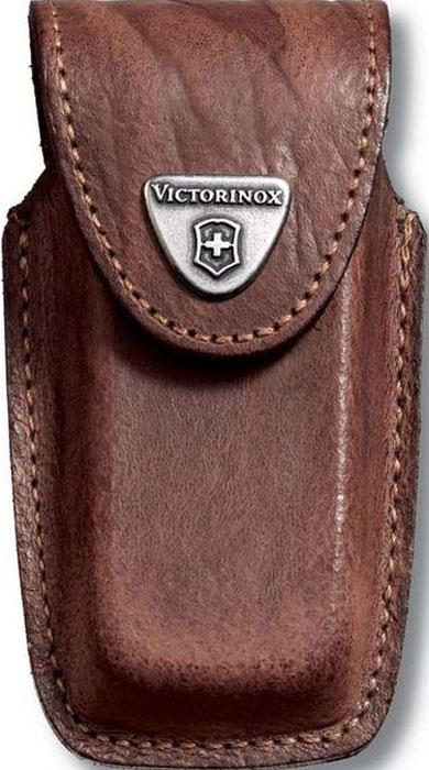 Чехол на ремень Victorinox для ножей 91 мм толщиной 5-8 уровней, кожаный, цвет: коричневый