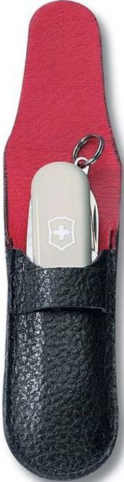 Чехол Victorinox для ножей-брелоков 58 мм толщиной 2-3 уровня, кожаный, цвет: черный