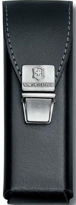 Чехол на ремень Victorinox для мультитулов SwissTool, на пружинной защелке, кожаный, цвет: черный