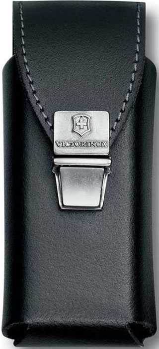 """Чехол на ремень """"Victorinox"""" для мультитулов SwissTool Plus, на пружинной защелке, кожаный, цвет: черный"""