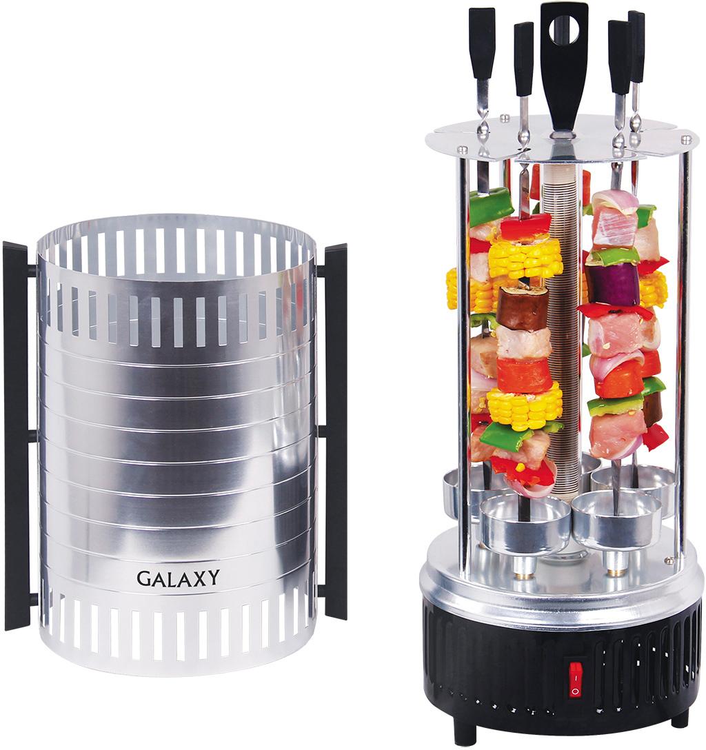 Электрошашлычница Galaxy GL2610, Silver Black