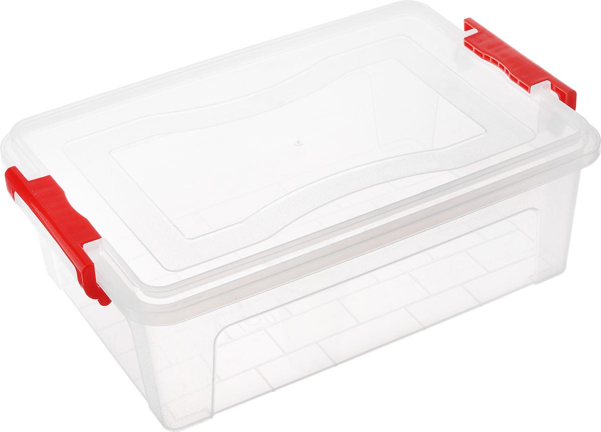 Контейнер для хранения Idea, прямоугольный, цвет: прозрачный, 10,5 л контейнер для хранения idea прямоугольный цвет салатовый прозрачный 8 5 л