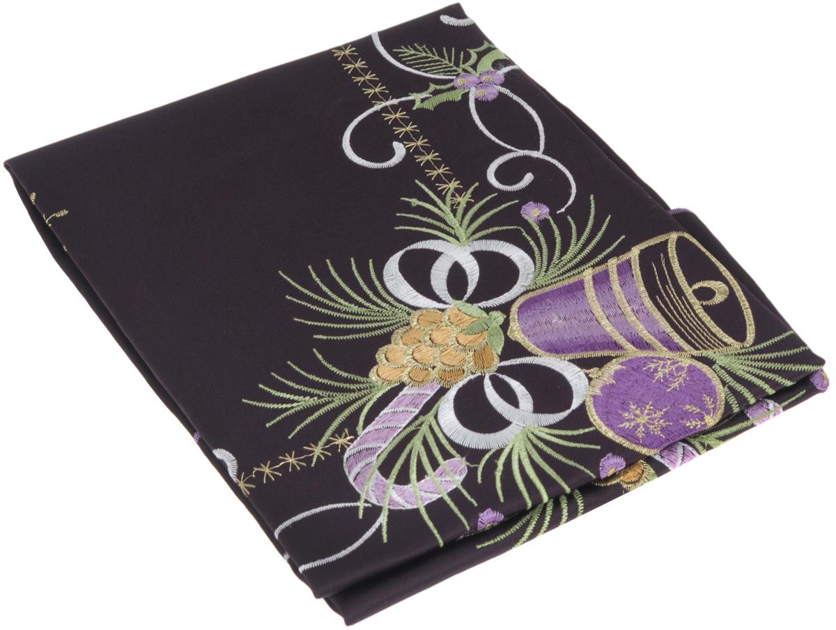 Скатерть Home Queen Колокольчик, квадратная, цвет: фиолетовый, 85 x 85 см скатерть schaefer квадратная цвет бежевый золотистый 85 x 85 см 07486 100