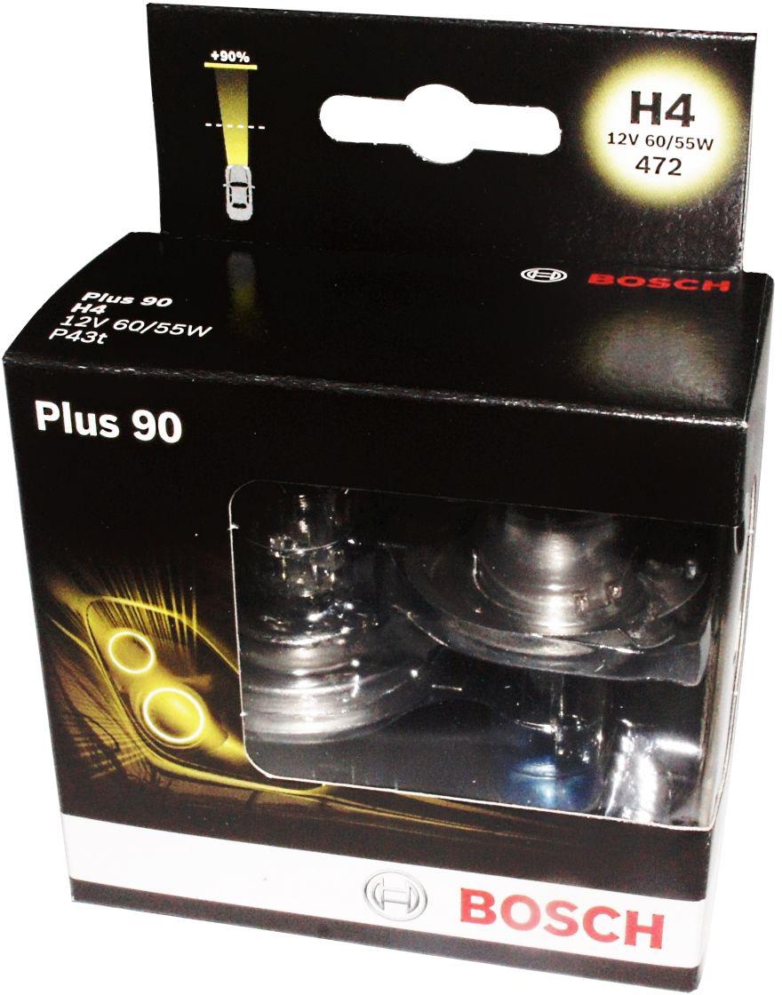 Лампа Bosch Plus 90 H4 (2шт.) 1987301074 kalen mas car headlight auto lamp h1 h4 h7 h11 h13 9004 9005 9007automobile headlamp fog light ip68 60w 6500k super bright