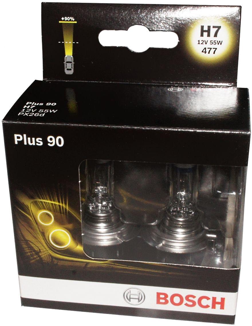 Лампа Bosch Plus 90 H7 (2шт.) 1987301075 kalen mas car headlight auto lamp h1 h4 h7 h11 h13 9004 9005 9007automobile headlamp fog light ip68 60w 6500k super bright