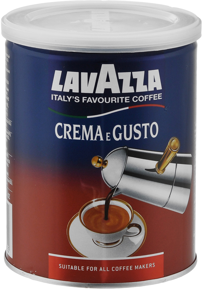Lavazza Crema e Gusto кофе молотый, 250 г ж/б
