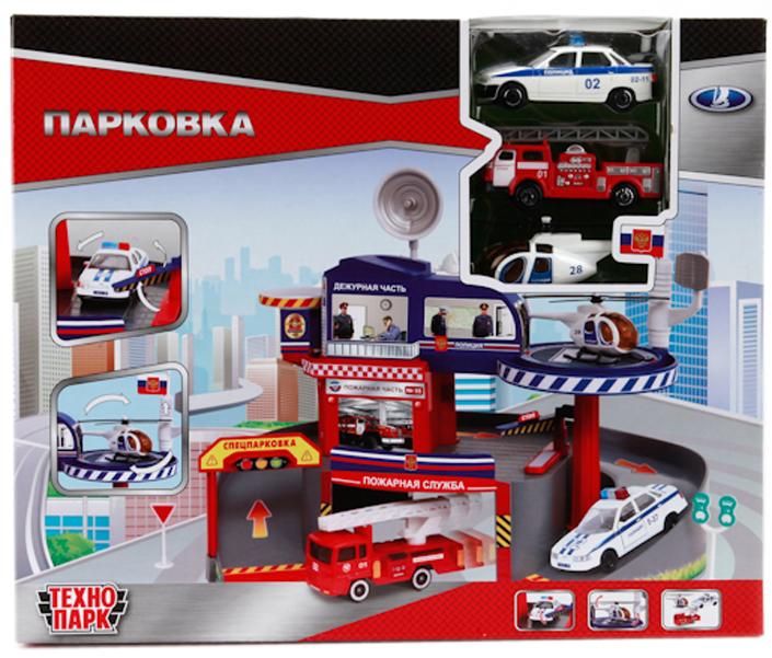 ТехноПарк Игровой набор Парковка со спуском гаражи и игровые наборы технопарк игровой набор технопарк парковка спецслужб со спуском