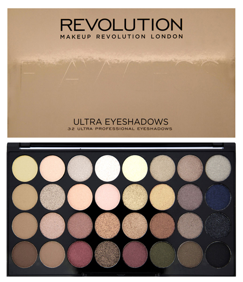 Makeup Revolution Набор из 32 теней 32 Eyeshadow Palette, Flawless, 16 гр makeup revolution набор из 30 теней 30 eyeshadow palette fortune favours the brave