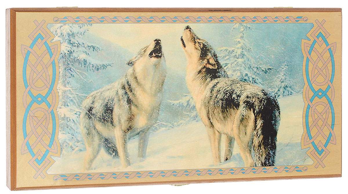 Нарды малые Perfecto Волки, размер: 40х40х4 см. 091s цена