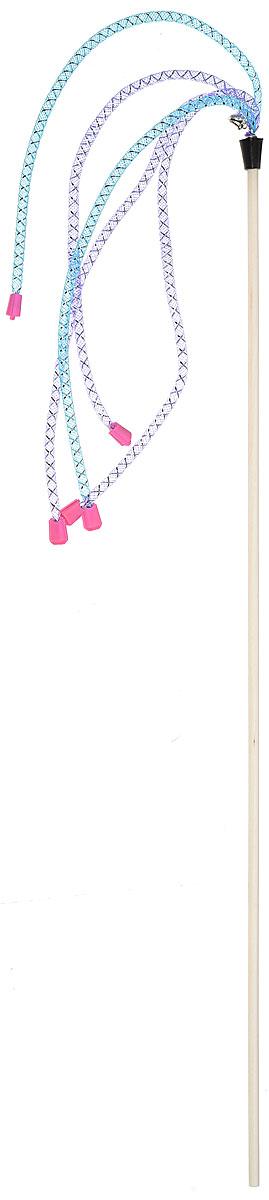 Игрушка-дразнилка для кошек GoSi Трубочки длинные с наконечниками, цвет в ассортименте, длина 50 см игрушка дразнилка для кошек gosi лапка норки длина 50 см