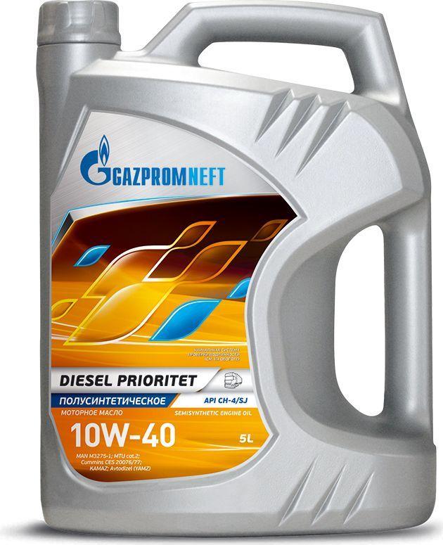 "Масло моторное Gazpromneft ""Diesel Prioritet"", 10W-40, API CH-4/SJ, ACEA E7, A3/B4, полусинтетическое, 5 л"