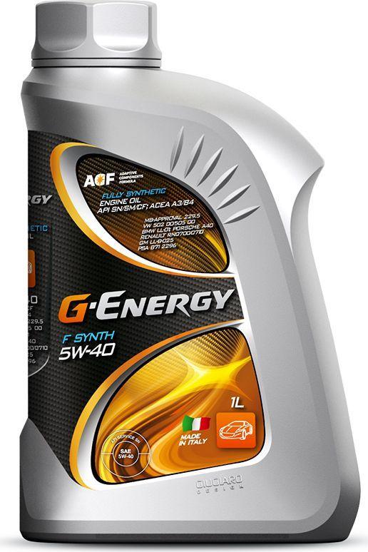 Масло моторное G-Energy F Synth 5W-40, API SN/CF, ACEA A3/B4, синтетическое, 1 л