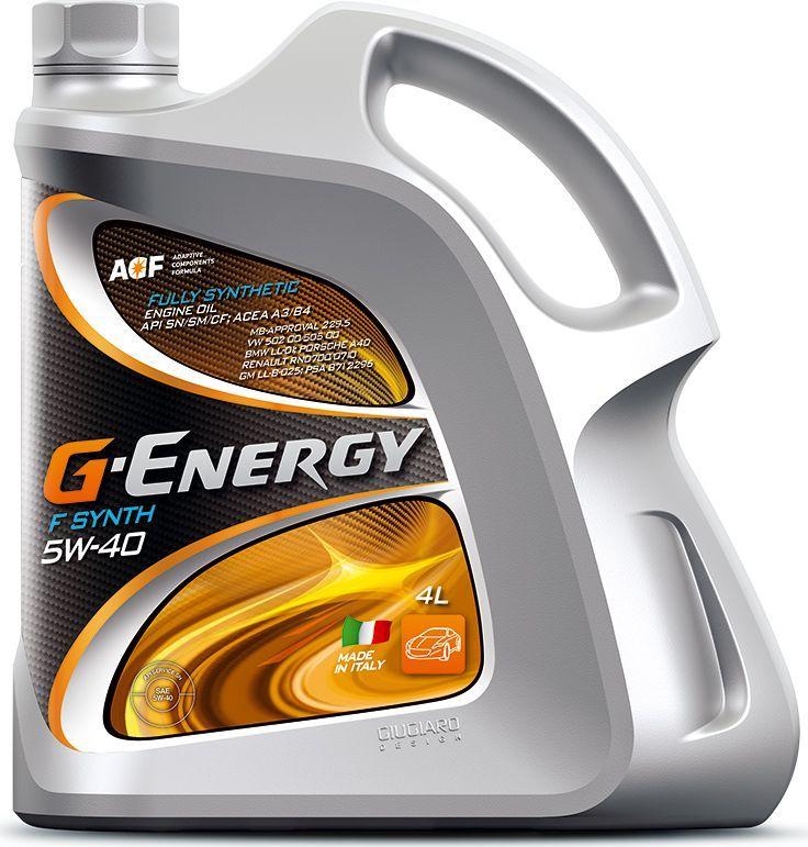 Масло моторное G-Energy F Synth 5W-40, API SN/CF, ACEA A3/B4, синтетическое, 4 л