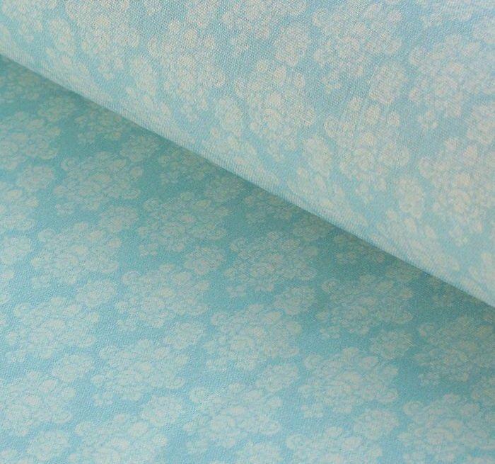 Ткань Кустарь Винтажные Гортензии №2, цвет: голубой, 48 х 50 см сколько ткани нужно для пошива 2 х спального комплекта