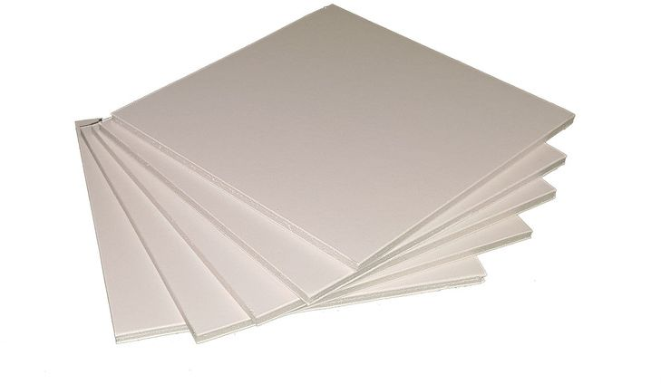 "Пенокартон ""Decoriton"", цвет: белый, толщина 0,5 см, плотность 640гр/м2, 30 х 40 см, набор 5 шт"