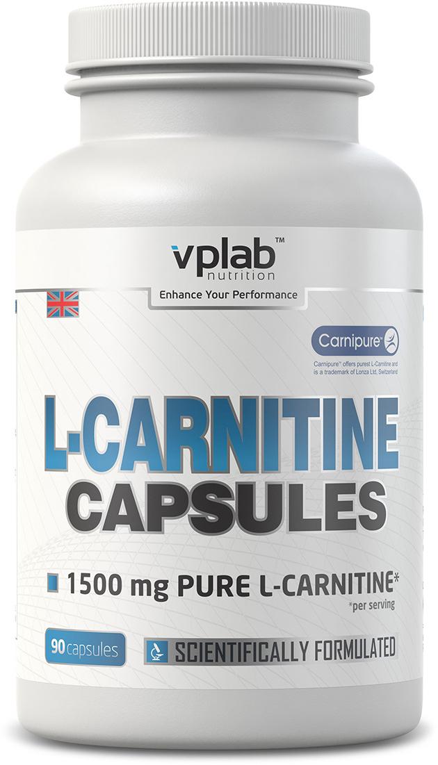 Карнитин (L-карнитин) VPLab L-Carnitine Capsules 90 капсул цена